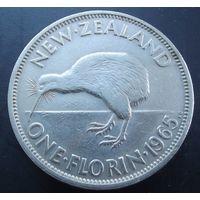 Новая зеландия. 1 флорин 1965