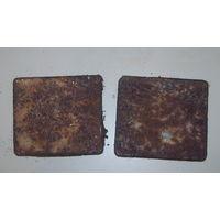 2 пустые металические пачки для папирос Рейх.Адмирал.