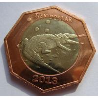 О.Бонайре 10 долларов 2013 г