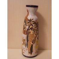 Китайская ваза, старая -дефект  30 см
