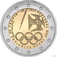 2 евро 2021 Португалия Португальцы на Олимпийских играх 2020 в Токио UNC из ролла