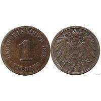 YS: Германия, Рейх, 1 пфенниг 1899A, KM# 10 (3)