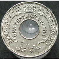 Бр. Западная Африка 1/10 пенни 1936 Эдуард VIII KM# 14