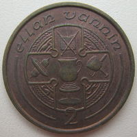 Остров Мэн 2 пенса 1988 г.