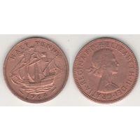Великобритания _km896 1/2 пенни 1964 год (f14)*