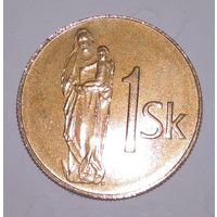 1 крона 1993 г. Словакия