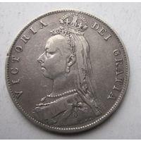 Великобритания, 1\2 кроны, 1890, серебро