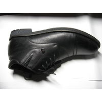 Ботинки мужские р-р 44 (черные,натуральная кожа с естественной мереей,пр-во Марко)- цена снижена