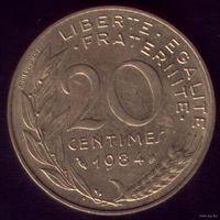 20 сантимов 1984 год Франция