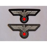 Птичка Имперский орёл 3 Рейх Вермахт. Нашивка с термоклейкой основой.