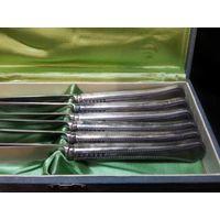 Набор ножей .комплект.глубокое серебрение. 22см