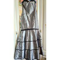 Оригинальное вечернее платье в пол, с небольшим шлейфом. Очень эффективное!!! А-ля Дикий Запад). Р-р 44, рост 170-175