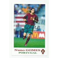 Nuno Gomes(Португалия). Живой автограф на фотографии.