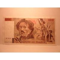 Франция 100 франков 1990 г.