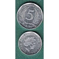 Восточно  Карибские  штаты 5 цент  2015 год