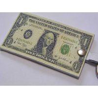 "Кожаный брелок ""Доллар"" - на удачу, ""для привлечения денег""!"