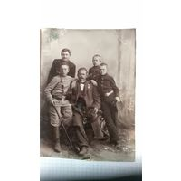Фото старинное гимназистов с учителем до 1917г