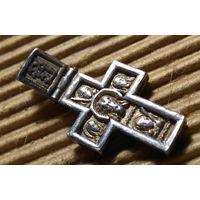 Крестик нательный СЕРЕБРО маленький