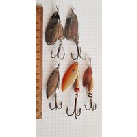 Блесна 5 штук в лоте вертушки для рыбалки
