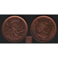 Канада _km490 1 цент 2006 год km490 не магнит ZnCu (L) (f32)*