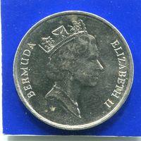 Бермудские острова , Бермуды 25 центов 1994