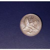 50 тхебе (тебе) 2001 Ботсвана,