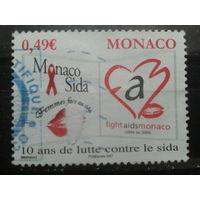 Монако 2006 борьба со спидом Михель-1,0 евро гаш