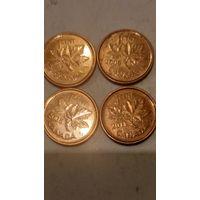 Канада 1 цент одним лотом