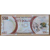 50 долларов 2016 года - Гайана - UNC - Юбилейная
