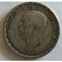 Швеция 1 крона 1945 серебро