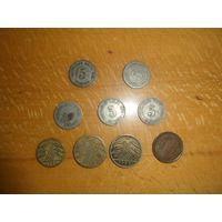 Набор монет Германии начало 20 века