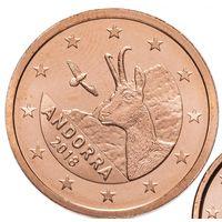 2 евроцента 2018 Андорра UNC из ролла