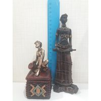 Две статуэтки африканки для декора