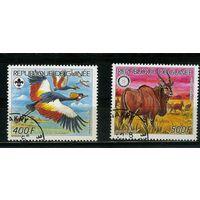 Гвинея 1987г. дикие животные, 2м.