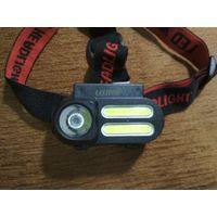 Налобный фонарь аккумуляторный 18650 USB