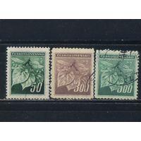 Чехословакия 3-я Респ 1945 Липовые листья с семенами Стандарт #426,431-2