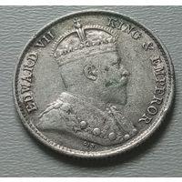 Гонконг 5 центов 1904 г.