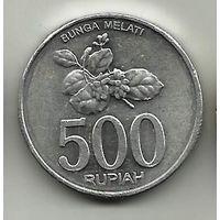 РЕСПУБЛИКА ИНДОНЕЗИЯ. 500 РУПИЙ 2008. ЦВЕТОК