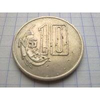 Уругвай 10 новых песо 1981
