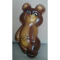 Олимпийский мишка СССР Гипс Высота 30 см