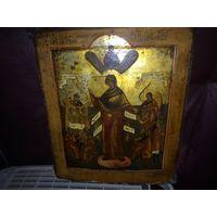 Икона Богородицы Скорбящая.19 Век.Ковчег.