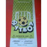 1975 год динамо минск--спартак орджоникидзе