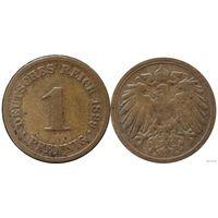 YS: Германия, Рейх, 1 пфенниг 1899D, KM# 10 (2)