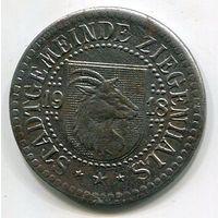 Ng ЦИГЕНХАЛЬС - 50 ПФЕННИГОВ 1918