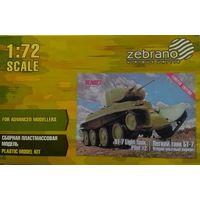 Легкий танк БТ-7 Второй образец 1:72