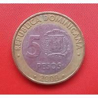 66-09 Доминиканская Республика, 5 песо 2008 г.