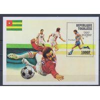 [1875] Того 1984. Спорт.Футбол.Олимпиада. БЛОК.