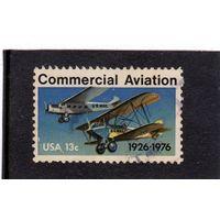 США. Ми-1254. 50 лет коммерческой авиации. 1926-1976.