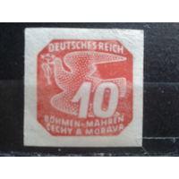 Богемия и Моравия 1943 Газетная марка 10г