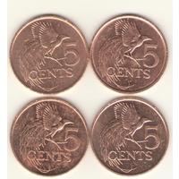 5 центов 1992, 2003, 2006, 2007 г.
